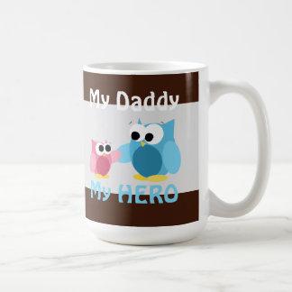 Eulen - mein Vati, mein HELD - der Vatertags-Tasse Tasse