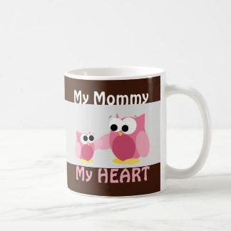 Eulen - meine Mama, mein HERZ - Tasse der Mutter T
