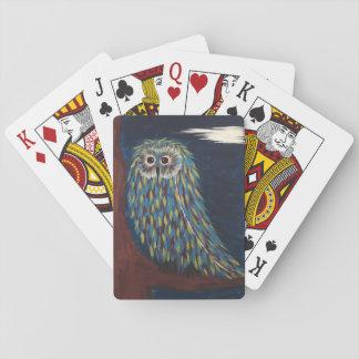 Eulen-Nachtspielkarten Spielkarten