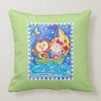 Eulen-u. Pussycat-Kinderzimmer-Kissen Kissen