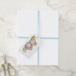 Eulen-und Häschen Ostern-Kunst Geschenkanhänger