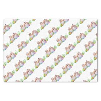 Eulen-und Häschen Ostern-Kunst Seidenpapier