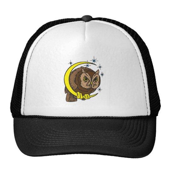 Eulen-und Mond-Tätowierungs-Entwurf Kult Cap