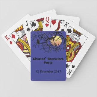 Eulen- und Mondnachtscape Spielkarten