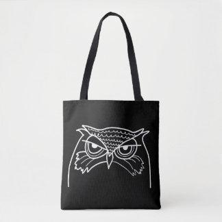 Eulen-verärgerte künstlerische Skizze-cooles Tasche