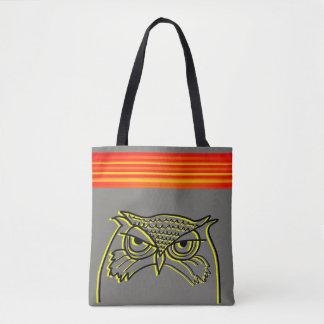 Eulen-verärgerte künstlerische Skizze-orange Tasche
