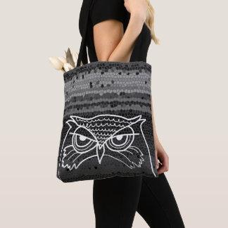 Eulen-verärgerte künstlerische Skizze-stilvolles Tasche