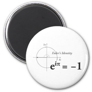 Eulers Identitäts-Mathe-Formel Runder Magnet 5,7 Cm