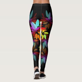Euphorische Moder Hippie-Regenbogen-Blumenblätter Leggings