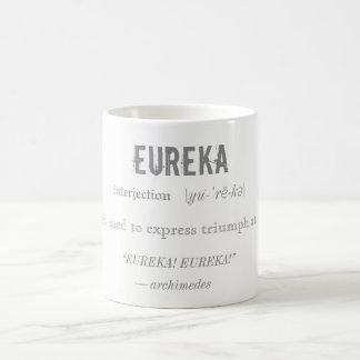 Eureka-Definitions-Archimedes-Prinzip-Wissenschaft Kaffeetasse