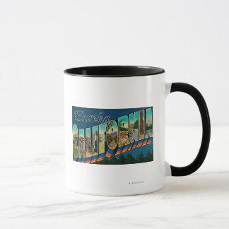 Eureka, Kalifornien - große Buchstabe-Szenen Tasse