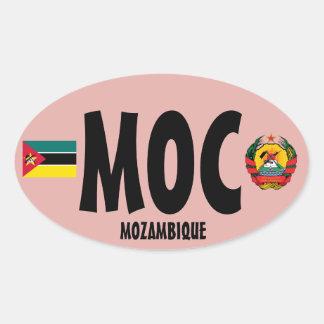 Euro-ähnlicher (MOC) ovaler Aufkleber Mosambiks