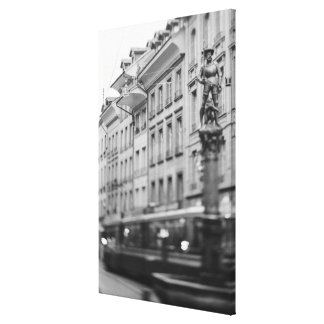 Europa, die Schweiz, Bern. Tram, Marktgasse Leinwand Druck