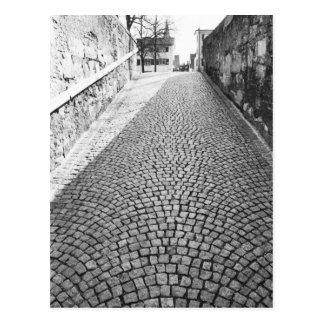 Europa, die Schweiz, Zürich. Cobbled Straße, Postkarte