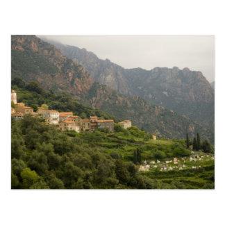 Europa, Frankreich, Korsika, Ota.  Stadt von Ota Postkarten