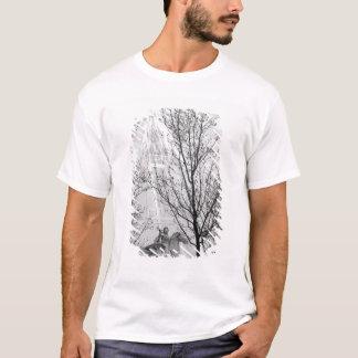 Europa, Frankreich, Paris. Statue und Riesenrad, T-Shirt