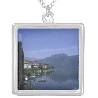 Europa, Italien, See Como, Tremezzo. Nord Versilberte Kette
