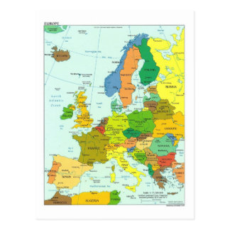 Europa-Karte Postkarte