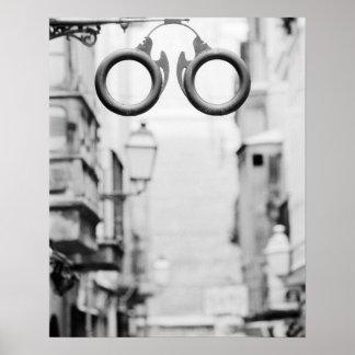 Europa, Spanien, Mallorca. Brillengeschäftszeichen Poster