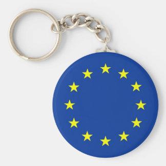 europäische Gewerkschaftsflagge Standard Runder Schlüsselanhänger