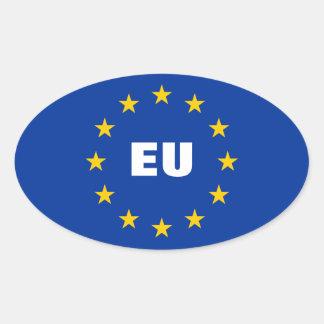 Europäische Gewerkschaftsflaggen-Aufkleber | Ovaler Aufkleber