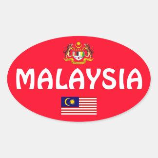 Europäischer ovaler Art-Aufkleber Malaysias Ovaler Aufkleber