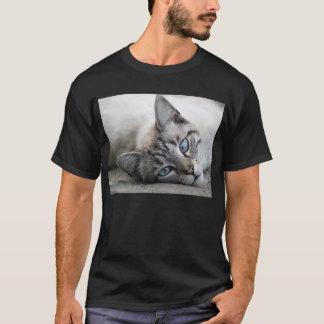 Europäisches Katzenporträt T-Shirt