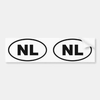 Europäisches Oval der Niederlande NL Autoaufkleber