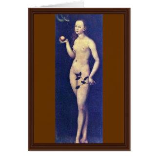 Eva durch Cranach D. Ä. Lucas (beste Qualität) Karte