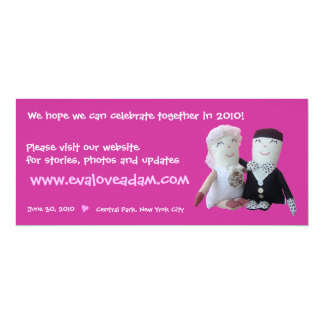 Eva- u. Adam-Einsatz-Foto-Puppen-Hochzeits-Einladu Individuelle Einladung