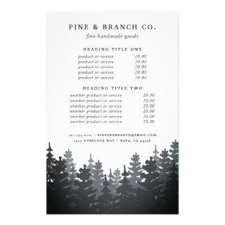 Évaluation et services de forêt d'hiver prospectus 14 cm x 21,6 cm