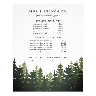 Évaluation et services grands de pins prospectus 11,4 cm x 14,2 cm