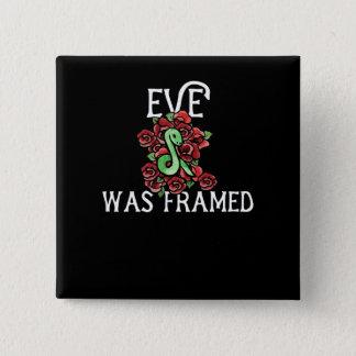Eve war gerahmt quadratischer button 5,1 cm