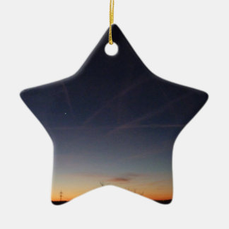 Evening Sky Keramik Stern-Ornament