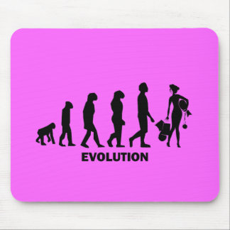 Evolution des Einkaufens Mousepad