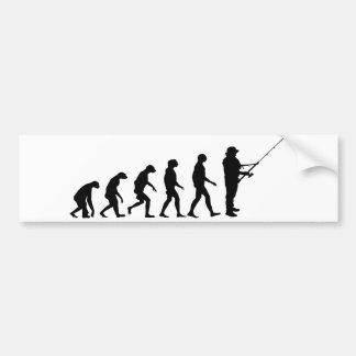 Evolution des Fischens Autoaufkleber