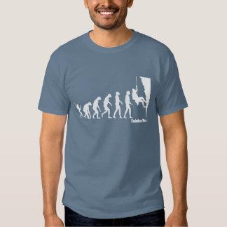 Evolution des Mann-kletternden T-Shirts