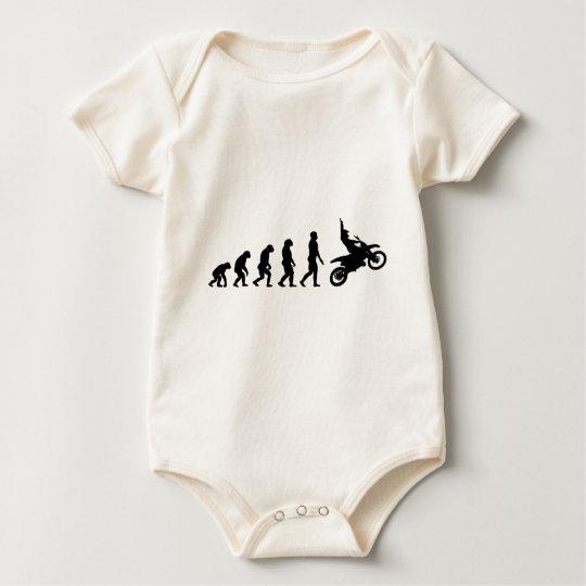 Evolution des Motorrads - Racer-Radfahrer Baby Strampler