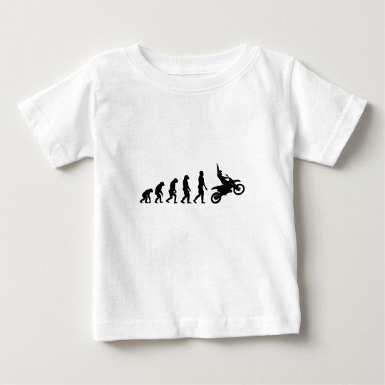 Evolution des Motorrads - Racer-Radfahrer Baby T-shirt