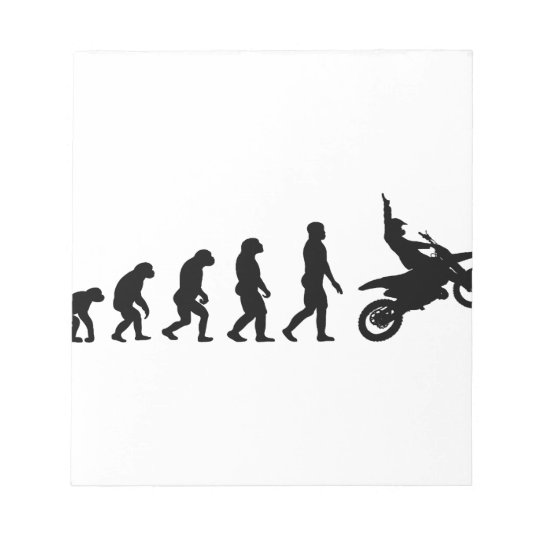 Evolution des Motorrads - Racer-Radfahrer Notizblock