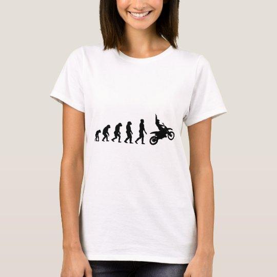Evolution des Motorrads - Racer-Radfahrer T-Shirt