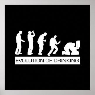 Evolution des Trinkens Poster