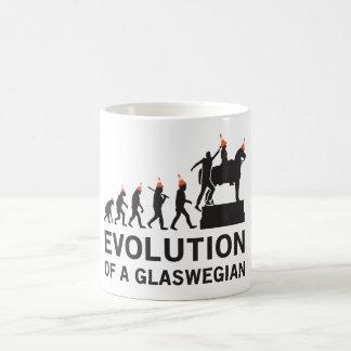 Evolution eines Glaswegian T-Shirts (Glasgow) Kaffeetasse