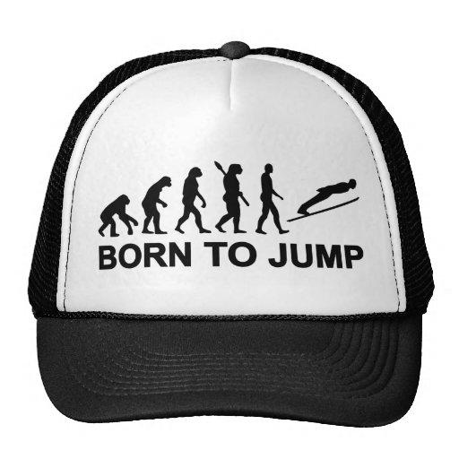 Evolution geboren, das Skispringen zu springen Baseballmützen