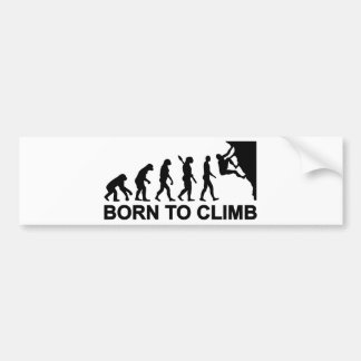 Evolution geboren zum Klettern Autoaufkleber