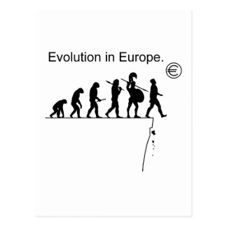 Evolution in Europa Postkarten