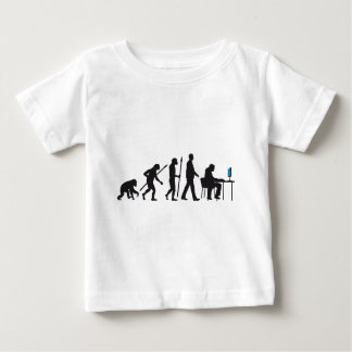 evolution of man pc console gamer player baby t-shirt