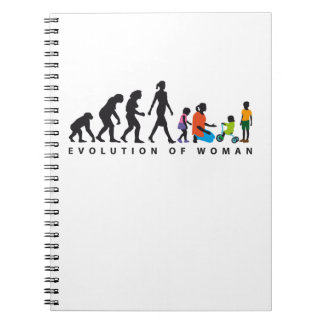 evolution of woman kindergarten educator childcare spiral notizblock