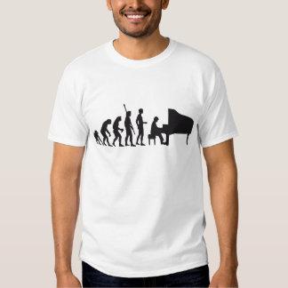 evolution piano tshirts