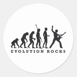 evolution rocks runder aufkleber
